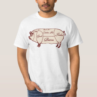 Pork Meat Cuts Diagram Chart Shirt