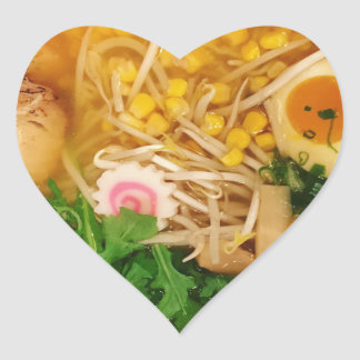 Pork Ramen Noodle Soup Heart Sticker