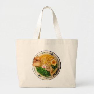 Pork Ramen Noodle Soup Large Tote Bag
