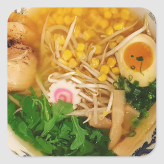 Pork Ramen Noodle Soup Square Sticker