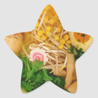 Pork Ramen Noodle Soup Star Sticker
