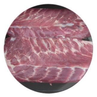 Pork Ribs Dinner Plates