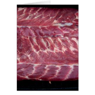 Pork Ribs Greeting Card
