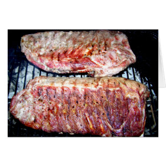 Pork Spare Ribs on the Grill Greeting Card