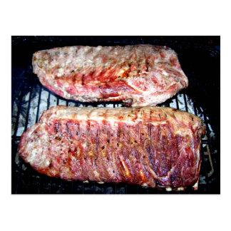 Pork Spare Ribs on the Grill Postcard