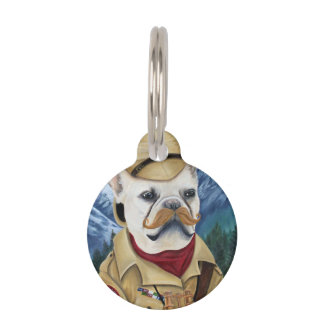 Porkchop the British Explorer Pet Tag