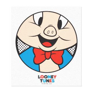 Porky Dotty Icon Canvas Print