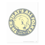 Porky TH-TH-THAT'S ALL FOLKS! Post Card