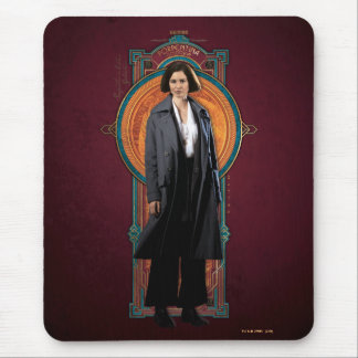 Porpentina Goldstein Art Deco Panel Mouse Pad