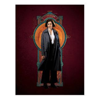 Porpentina Goldstein Art Deco Panel Postcard