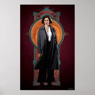 Porpentina Goldstein Art Deco Panel Poster