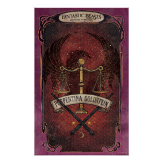 Porpentina Goldstein M.A.C.U.S.A. Graphic Poster