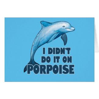 Porpoise Funny animal pun Card