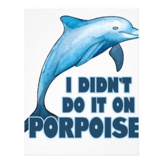 Porpoise Funny animal pun Letterhead