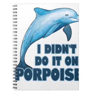 Porpoise Funny animal pun Notebook
