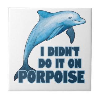 Porpoise Funny animal pun Tile