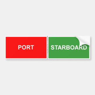 Port and Starboard sticker Bumper Sticker