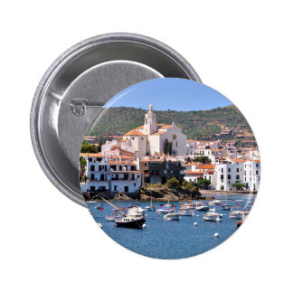 Port and town of Cadaqués in Spain 2 Inch Round Button