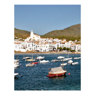 Port and town of Cadaqués in Spain Letterhead