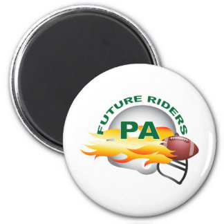 Port Angeles B Green 2 Inch Round Magnet