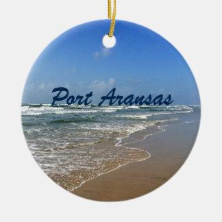 Port Aransas Beach in Texas Ceramic Ornament