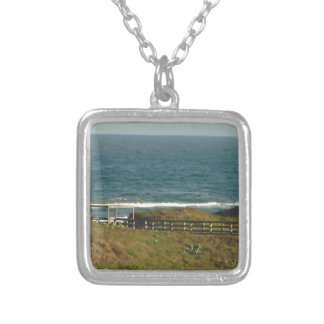 port arkansas tx silver plated necklace