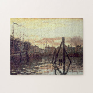 Port at Zaandam Monet Fine Art Jigsaw Puzzle