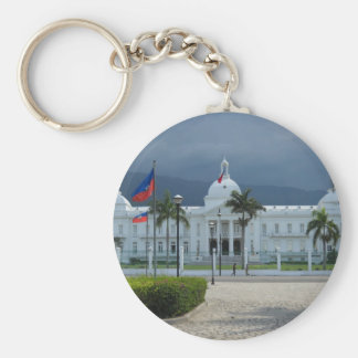 Port au Prince, Haiti Basic Round Button Keychain
