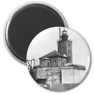 Port Austin Lighthouse 2 Inch Round Magnet
