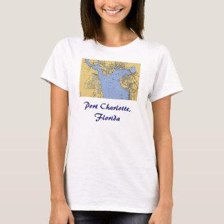 Port Charlotte, Florida Nautical Chart T-Shirt
