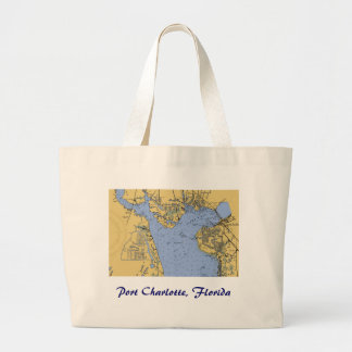 Port Charlotte, Florida Nautical Chart Tote Bag