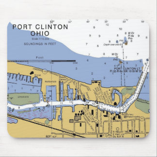 Port Clinton, OH  Erie Nautical Chart Mousepad