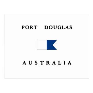 Port Douglas Australia Alpha Dive Flag Postcard