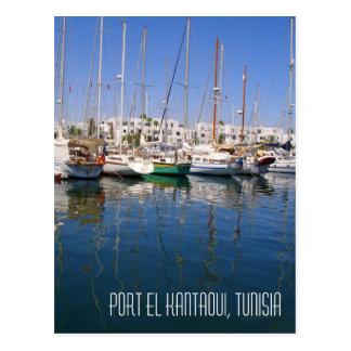 Port el Kantaoui Harbour Waterfront Boats Tunisia Postcard