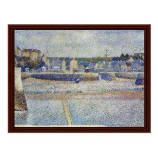 Port-En-Bessin ', The Outer Harbor At Low Tide Postcard