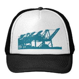 Port Harbror Cranes in Blue Hat
