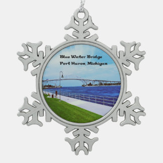 Port Huron Michigan Pewter Snowflake Ornament