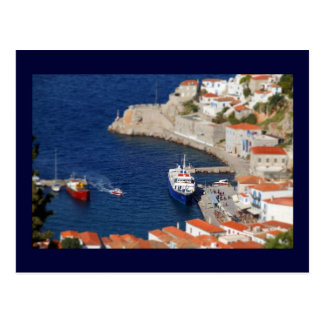 Port Hydra in miniature Postcard