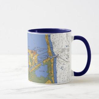 Port Isabel Texas nautical Harbor Chart Coffee Mug