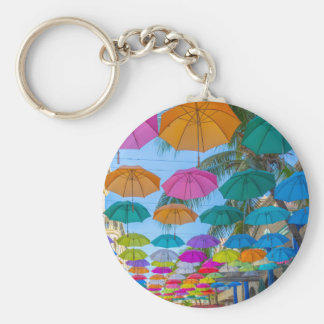 port louis le caudan waterfront umbrellas cap basic round button keychain