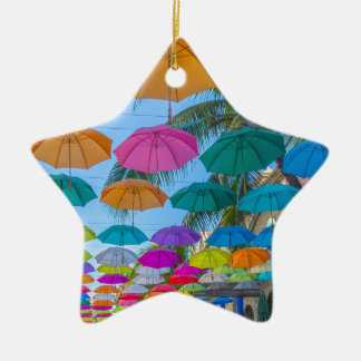port louis le caudan waterfront umbrellas cap ceramic ornament