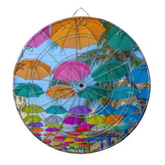 port louis le caudan waterfront umbrellas cap dartboard