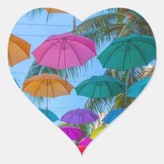 port louis le caudan waterfront umbrellas cap heart sticker