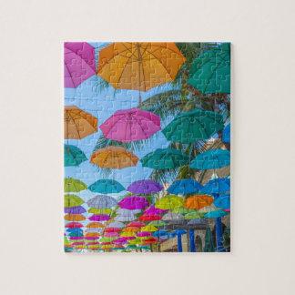 port louis le caudan waterfront umbrellas cap jigsaw puzzle