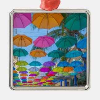 port louis le caudan waterfront umbrellas cap metal ornament