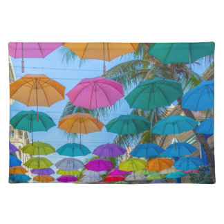 port louis le caudan waterfront umbrellas cap placemat