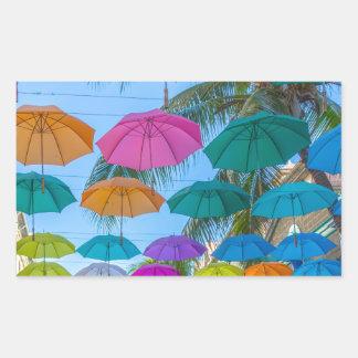 port louis le caudan waterfront umbrellas cap sticker
