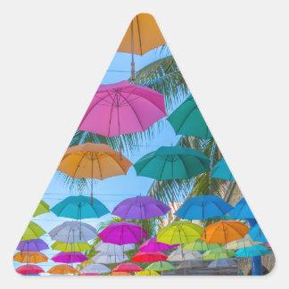 port louis le caudan waterfront umbrellas cap triangle sticker