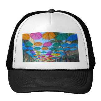 port louis le caudan waterfront umbrellas cap trucker hat