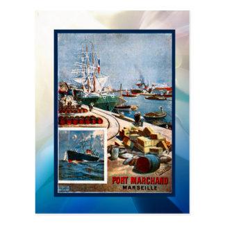 Port Marchand, Marseille Postcard